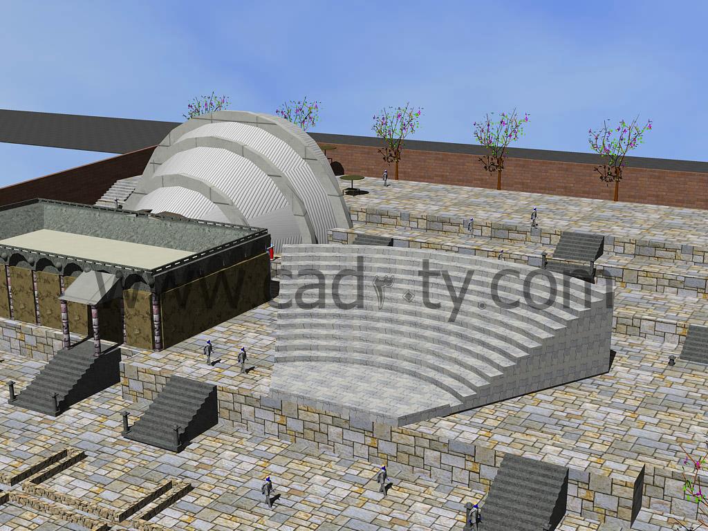 نقشه آمفی تئاتر همراه با عکس