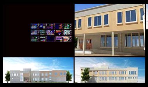 پروژه دبیرستان به همراه عکس سه بعدی – Secondary school