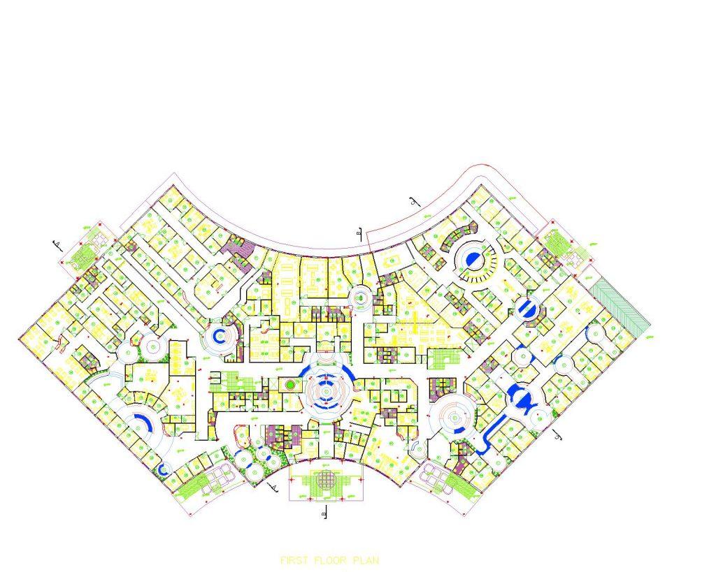 نقشه های یک بیمارستان فاز ۲ (فونت فارسی اضافه شد)
